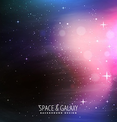 Stars filled universe background vector