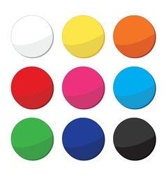 Blank clean web round buttons set vector image