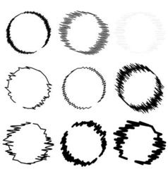 Set circle hand drawn vector