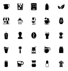 Coffee and tea icons on white background vector
