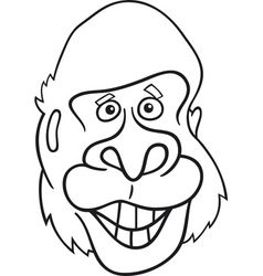 Cartoon gorilla vector