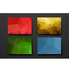Polygonal background vector