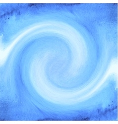 Abstract blue watercolor background with waves vector image