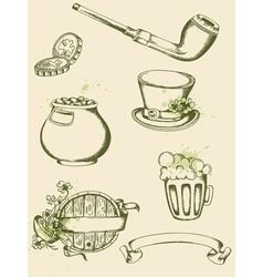vintage hand drawn vector image