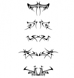 Set of tribal tattoo elements vector