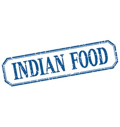 Indian food square blue grunge vintage isolated vector