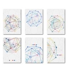 Set of templates business scientific brochures vector