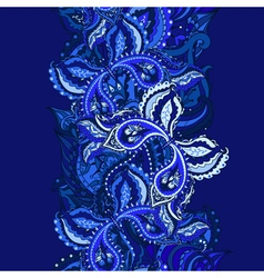 Elegant card with indian paisley vector