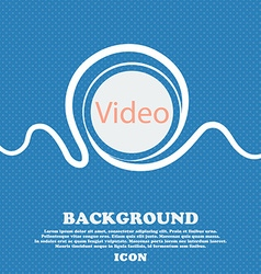 Play video sign icon player navigation symbol blue vector