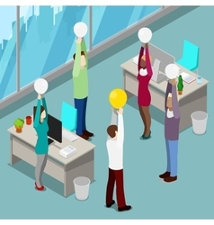 Isometric business people office workers vector