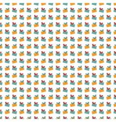 Abstract Christmas gift pattern wallpaper vector image vector image