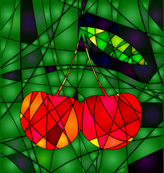 abstract colored cherry vector image vector image