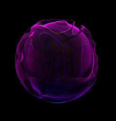 Abstract violet colorful mesh sphere vector