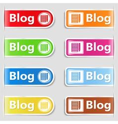 Blog tabs vector