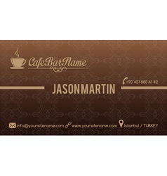 Cafe bar business card vector