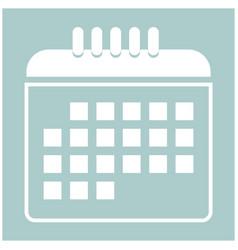 calendar the white color icon vector image