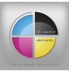 CMYK Circle vector image vector image