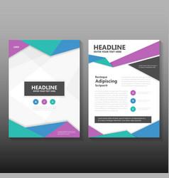 Colorful leaflet brochure leaflet templates vector