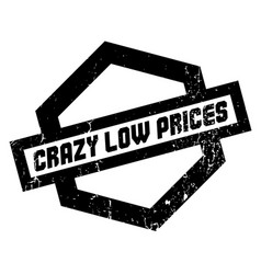 Crazy low prices rubber stamp vector