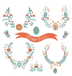 Easter laurels vector image
