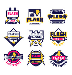 flash electrical storm company logo design vector image