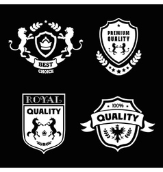 Heraldic premium quality emblems set with royal vector image vector image