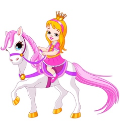 Little princess on horse vector image vector image