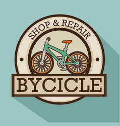 modern bike shop logo vector image