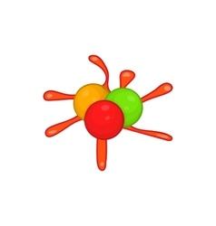 Paintball blob icon in cartoon style vector
