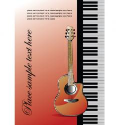 piano with guitar vector image vector image