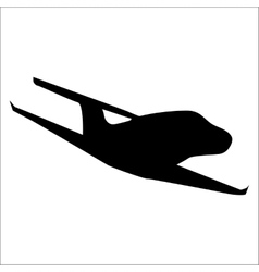 Planes black silhouette vector image vector image