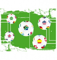 soccer ball set vector image vector image