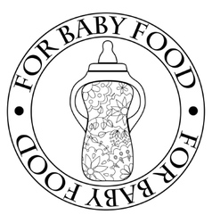 Stamp for baby food vector image vector image