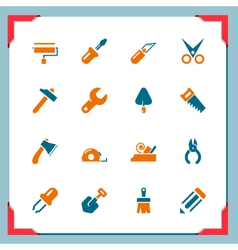 Tools In a frame series vector image vector image