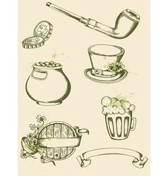 vintage hand drawn vector image