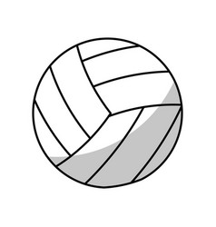 volleyball ball equipment - shadow vector image