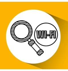 Wifi technology app vector