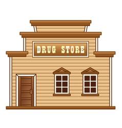 Wild West drug store vector image