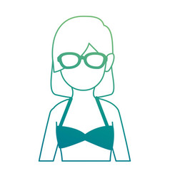 woman in swimsuit avatar vector image