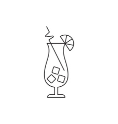 Cocktail icon outline vector