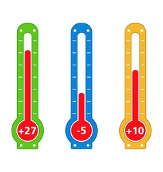 Simple thermometers vector