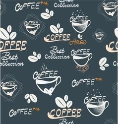 Hand Drawning coffee seamless vector image