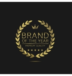 Brand of the year vector