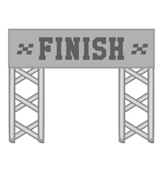 Finish race gate icon black monochrome style vector