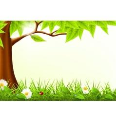 Green tree frame vector