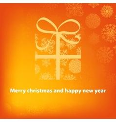 Gift box on orange background  EPS8 vector image