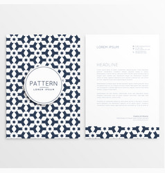 Letterhead template with abstract shapes vector