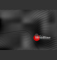 Abstract black 3d waves and lines pattern vector