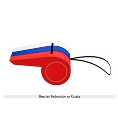 A whistle of the russian federation flag vector