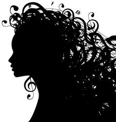 Musicwoman vector